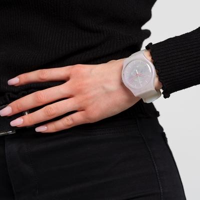 SWATCH  原創系列手錶PINK MIST粉色虹光(41mm)