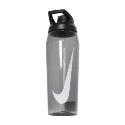 Nike 水壺 Hypercharge Chug 轉蓋 防漏水 健身 重訓 單車 上學 黑 白 N100062302532