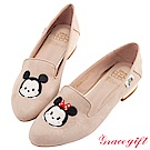 Disney collection by grace gift-造型絨布樂福鞋 杏