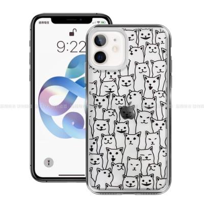 MOOTUN for iPhone 12 mini 5.4吋 防護晶透保護殼 - 滿版線條貓