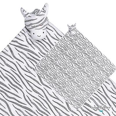 美國 Angel Dear 大頭動物嬰兒毛毯 (黑白斑馬)