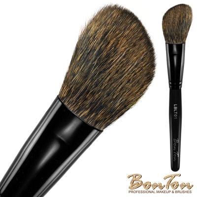 BonTon 墨黑系列 輕柔斜修容/腮紅刷LBLT01 松鼠毛