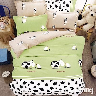 BEDDING-活性印染單人鋪棉床包兩用被套三件組-開心農場