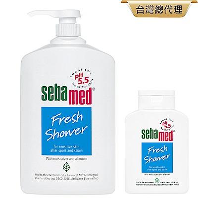 sebamed施巴 運動沐浴乳(麝香/花香)大+小任選組