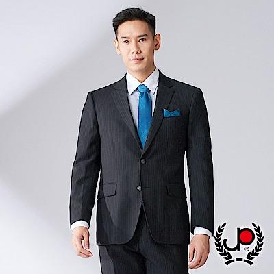 極品西服 時尚風格修身西裝外套_黑直條(AW736-3G)