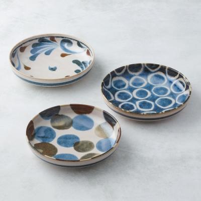 有種創意 日本美濃燒-筆青釉繪深盤組(3件式)