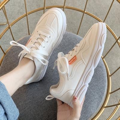 韓國KW美鞋館 時尚搶眼休閒百搭運動鞋-白