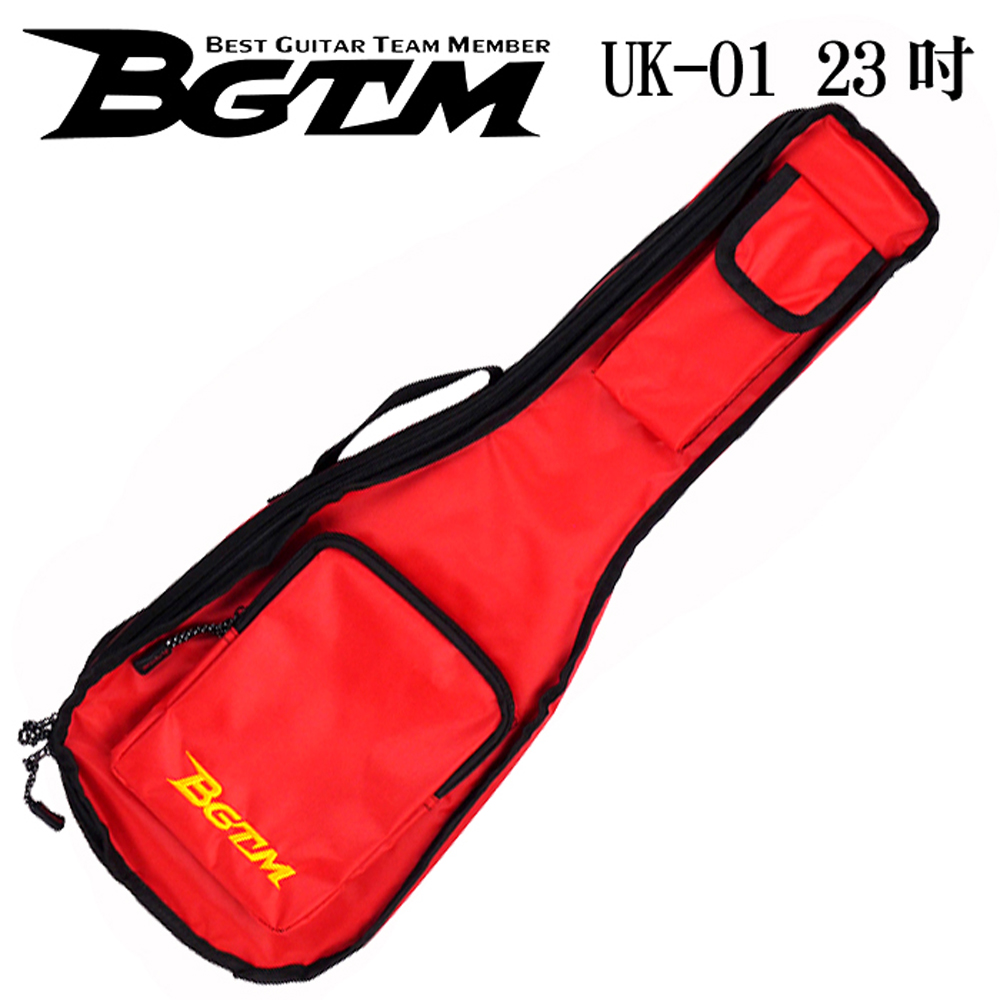 BGTM嚴選UK-01超高質感23吋烏克麗麗琴套(雙背/厚棉)-紅色