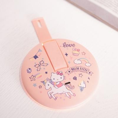 【Hello Kitty】安寶手持充電LED化妝鏡 AB-7310