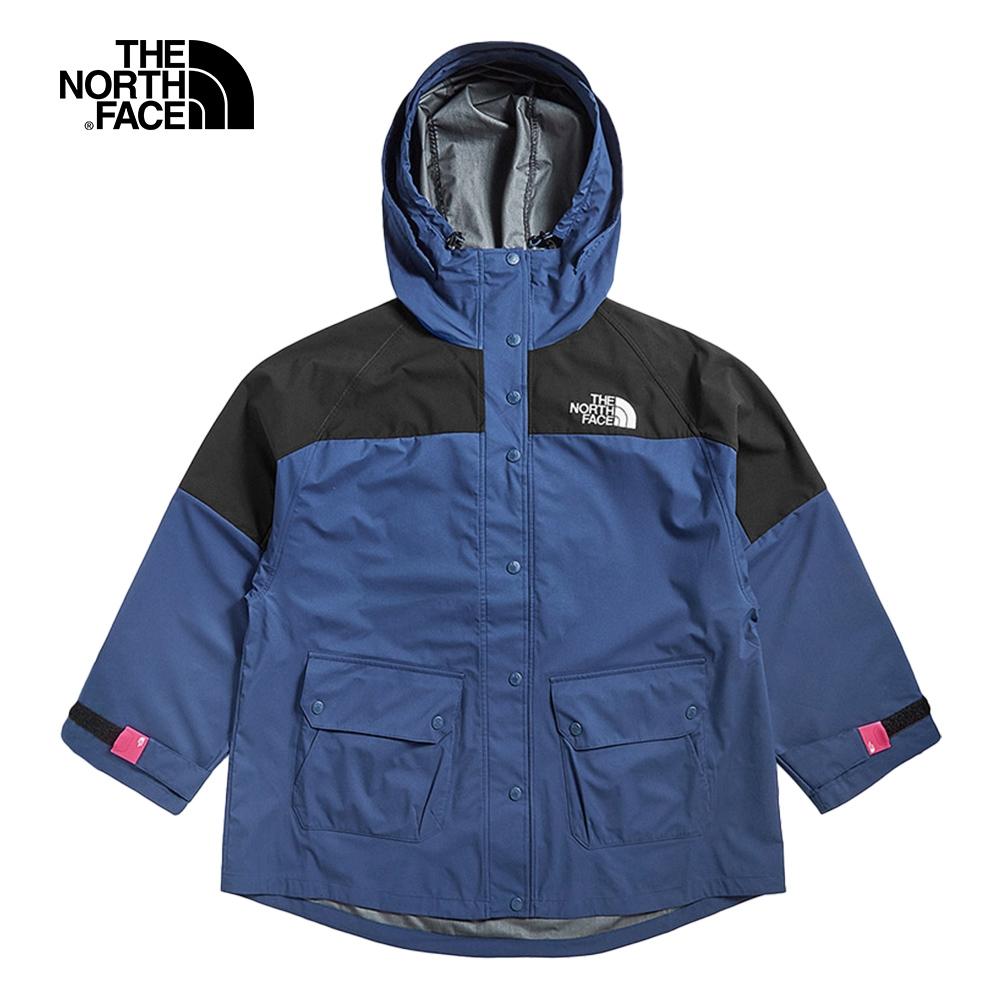 The North Face北面女款藍黑色休閒簡約七分袖衝鋒衣 49CVN8E