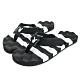 PLAYBOY條紋布面夾腳涼拖鞋-黑白-YT607C1 product thumbnail 1