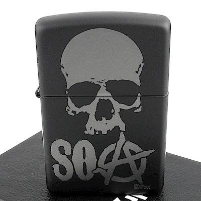 ZIPPO 美系~Sons Of Anarchy-混亂之子骷髏圖案打火機