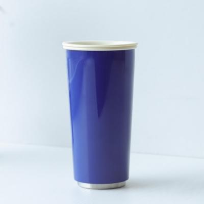 JIA Inc.虹彩鋼 雙層琺瑯塗層隨行杯470ml(藍色)(快)