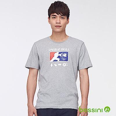 bossini男裝-印花短袖T恤48淺灰