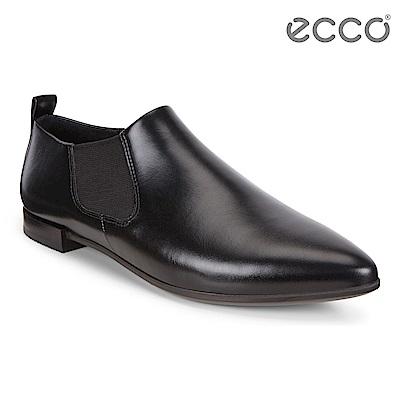 ECCO SHAPE POINTY BALLERINA 小牛皮尖頭平底鞋 女 黑