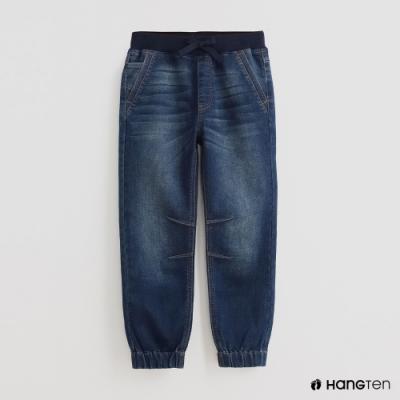 Hang Ten - 童裝 - 腰部鬆緊綁帶牛仔長褲 - 藍