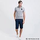 GIORDANO  男裝牛仔布簡約抽繩休閒短褲-01 深藍色