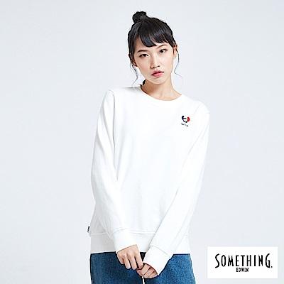買一送一 BONBON法鬥哥 小刺繡厚長袖T恤-女-白色