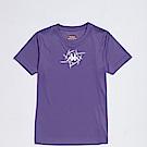 KAPPA義大利 精典女吸濕排汗短袖衫~粉紫 白 304P7G0451