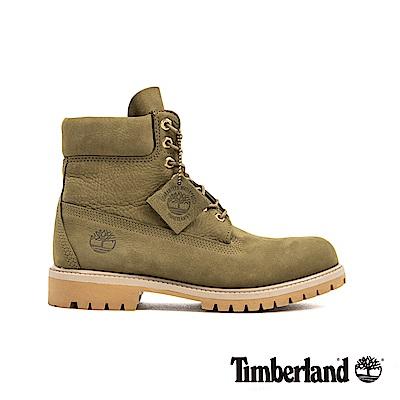 Timberland 男款橄欖色磨砂革經典6吋靴|A1YQ1