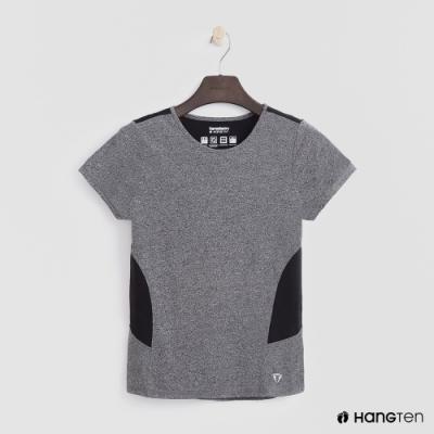 Hang Ten - 女裝-ThermoContro-純色拼接造型短袖上衣-灰