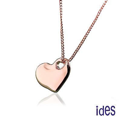 ides愛蒂思 日韓時尚設計愛心項鍊/甜心(玫瑰金色)