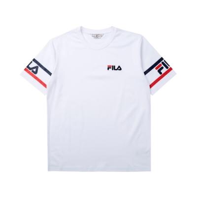 FILA #LINEA ITALIA 短袖圓領T恤-白 1TET-5402-WT