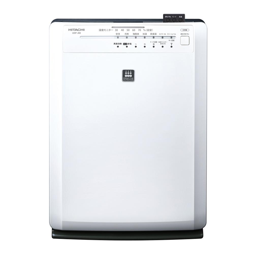 HITACHI日立 14坪 清淨度&溫度顯示 加濕空氣清淨機 UDP-J80