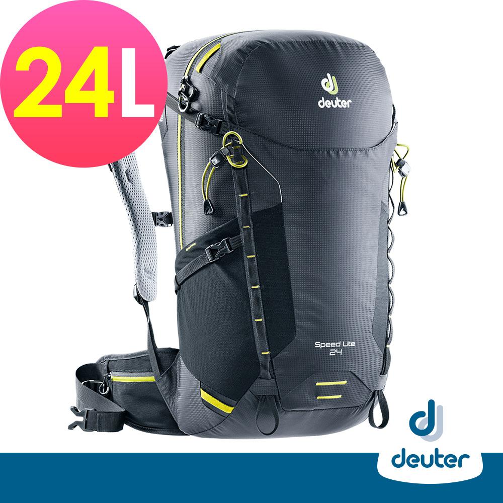 【deuter德國】SPEED LITE超輕量旅遊背包24L(3410418黑)