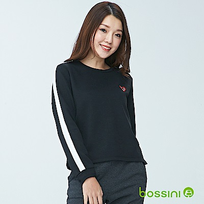 bossini女裝-圓領厚棉上衣01黑