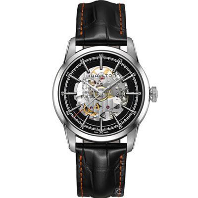 Hamilton 漢米爾頓 美國經典鐵路鏤空機械錶(H40655731)