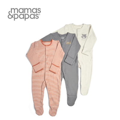 Mamas & Papas 浣熊發呆-連身衣3件組