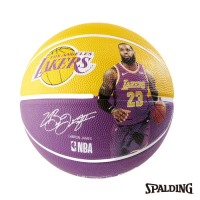 SPALDING 斯伯丁 NBA 球員球 湖人 詹姆士 LeBron
