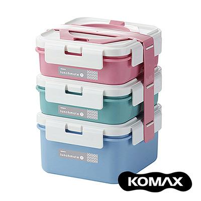 韓國KOMAX 方型三層餐盒組- 共兩色