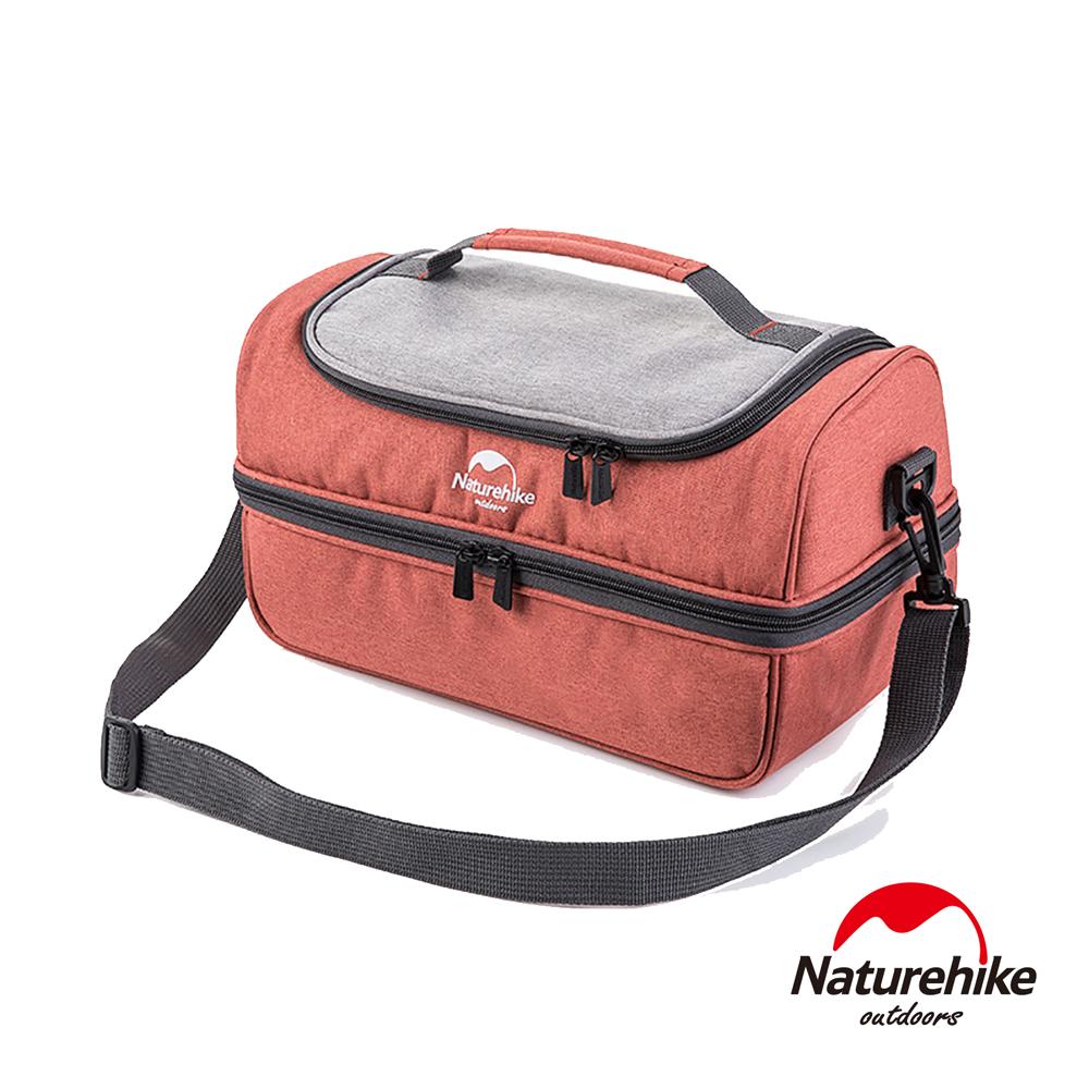 Naturehike 豪華版野餐兩用保溫保冰包 小號 附保鮮盒+USB加熱片-急