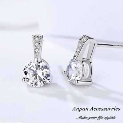 【全館6折ANPAN】S925純銀飾韓東大門八心八箭閃亮單鑽耳環