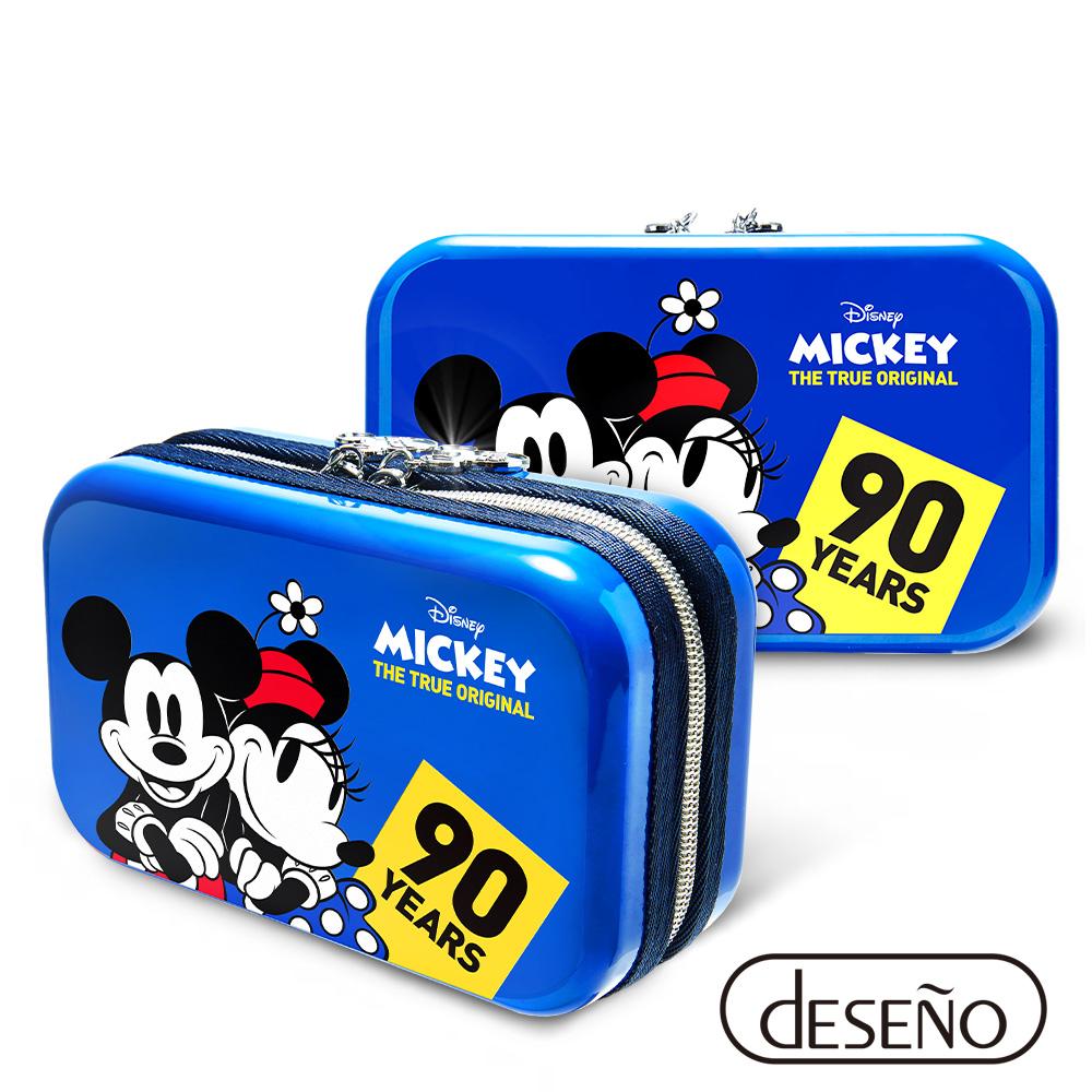 Disney 米奇系列90週年限量紀念航空硬殼包 甜蜜款-藍色 @ Y!購物