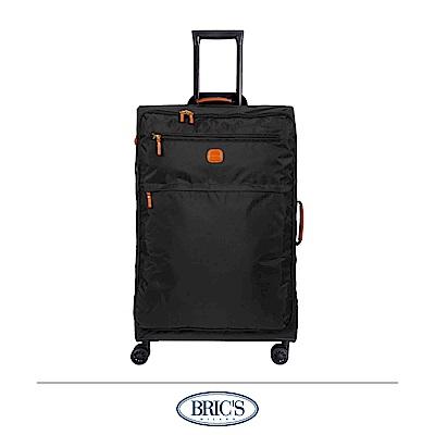 BRICS 義大利 28吋 超輕量 小牛皮防水布箱 黑色