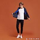 GIORDANO   男裝G-MOTION雙面空氣層修身運動九分褲-19 標誌黑
