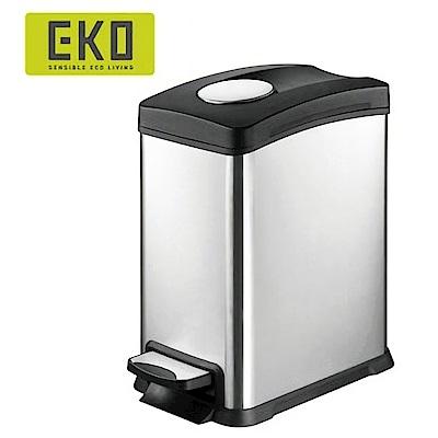 EKO樂享緩降靜音不鏽鋼垃圾桶 8L