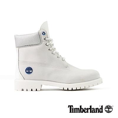 Timberland男款亮白色 Waterbuck 皮革6吋靴| A1Q7Y