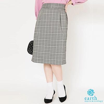 earth music 定番優雅格紋裙
