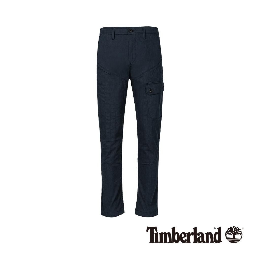 Timberland 男款深藍寶石藍彈力修身錐形休閒長褲 A1WJ9