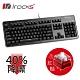 [送替換底紙]irocks K76MN CUSTOM 靜音 機械式鍵盤黑-紅軸 product thumbnail 1