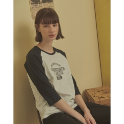 CACO-MIT 拉克蘭七分T(二色)-情侶款-女【A2AR003】