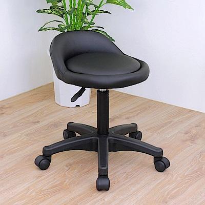 E-Style 高級皮革椅面(活動輪)工作椅/升降椅/旋轉椅/活動椅/餐椅-黑色