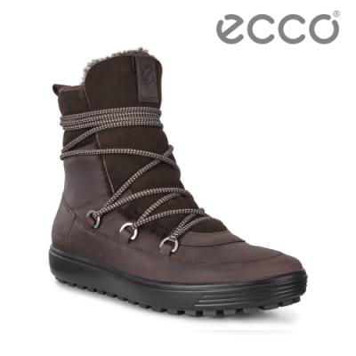 ECCO SOFT 7 TRED W 北歐暖冬時尚保暖高筒雪靴  女鞋 咖啡色