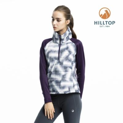 【hilltop山頂鳥】女款ZISOFIT保暖吸濕抗菌刷毛上衣H51FI7憂鬱藍