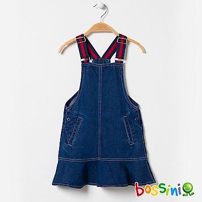 bossini女童-丹寧背心吊帶裙02淡藍
