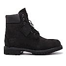 Timberland 男款黑色素面防水中筒靴